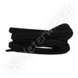 Plat ELASTIEK 7mm Zwart SPECIALE LENGTE_