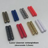 Plat 8mm katoen Donkerblauw SPECIALE LENGTE_
