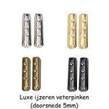 Type Timberland 5mm Zwart/Bruin SPECIALE LENGTE_