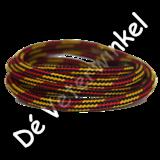 Outdoorveter 5mm Rood/Geel-Zwart SPECIALE LENGTE_