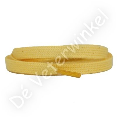 Flat 8mm cotton Yellow SPECIAL LENGTH