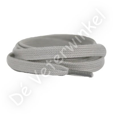 Flat 8mm cotton Light Grey SPECIAL LENGTH
