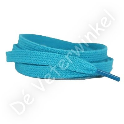 Flat 8mm cotton Turquoise SPECIAL LENGTH