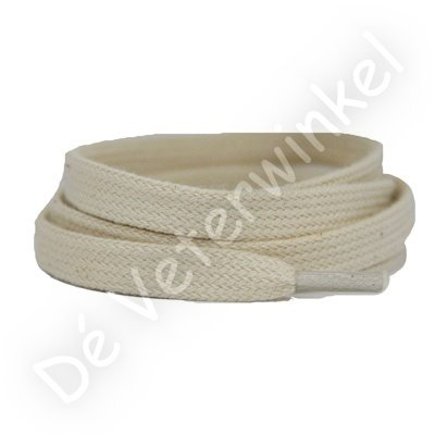 Flat 8mm cotton Cream SPECIAL LENGTH