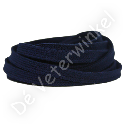 Flat 8mm cotton Dark Blue SPECIAL LENGTH