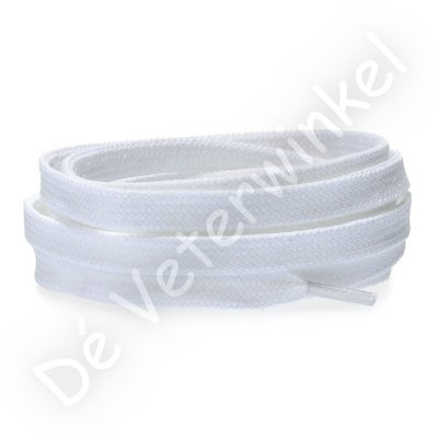 Flat 8mm cotton White SPECIAL LENGTH