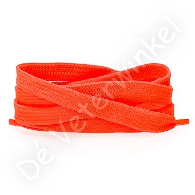 Plat 8mm polyester NeonOranje SPECIALE LENGTE