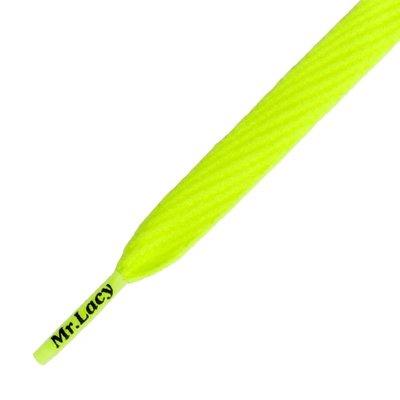 Mr.Lacy Flatties Neon Lime Yellow 130cm
