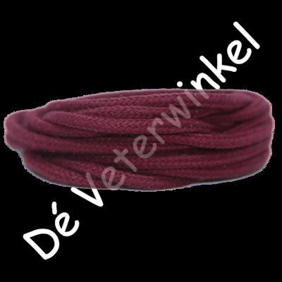 Rond 5mm katoen BordeauxRood SPECIALE LENGTE