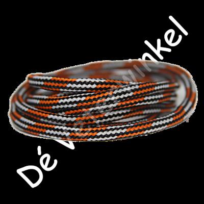 Outdoorveter 5mm Oranje/Lichtgrijs-Zwart SPECIALE LENGTE