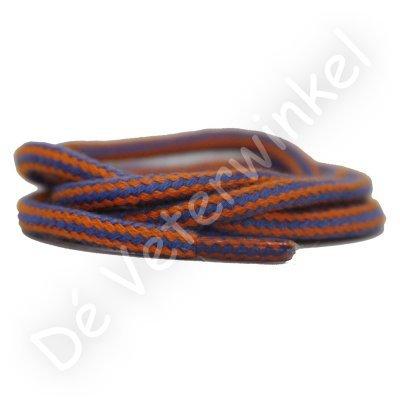 Rond 5mm Combi katoen Oranje/Kobaltblauw SPECIALE LENGTE