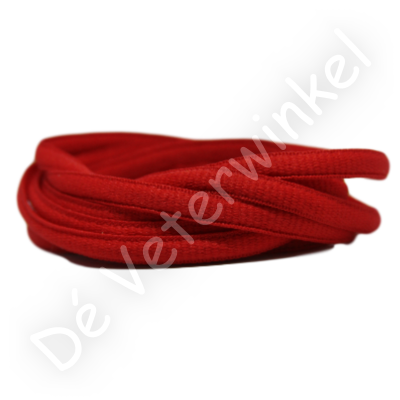 Ovaal sportveter 6mm Rood SPECIALE LENGTE