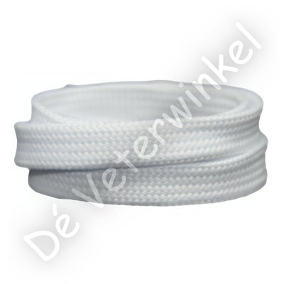 Plat 12mm polyester Wit SPECIALE LENGTE