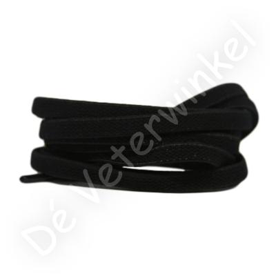 Plat ELASTIEK 7mm Zwart SPECIALE LENGTE