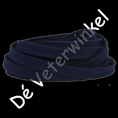 Plat 8mm katoen Donkerblauw SPECIALE LENGTE
