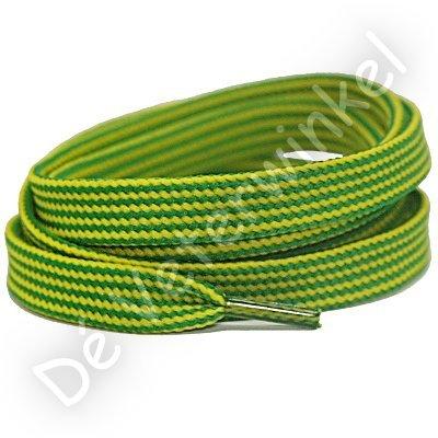 Plat 10mm Combi polyester Appelgroen/Geel SPECIALE LENGTE