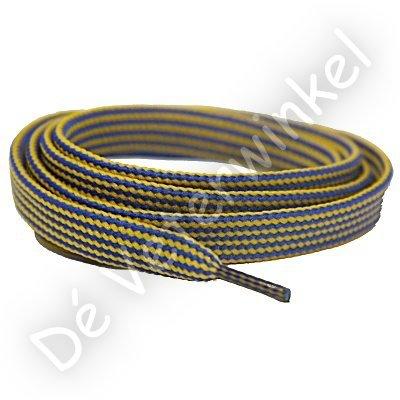 Plat 10mm Combi polyester Hemelsblauw/Geel SPECIALE LENGTE