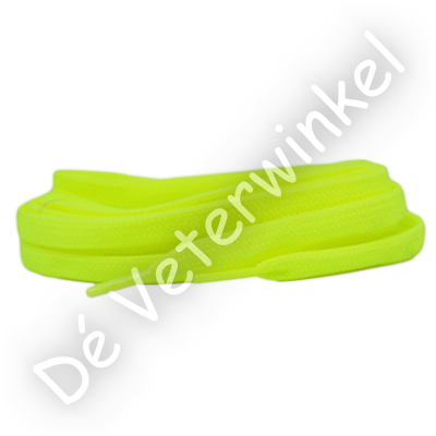 Flat 5mm Polyester NeonYellow SPECIAL LENGTH