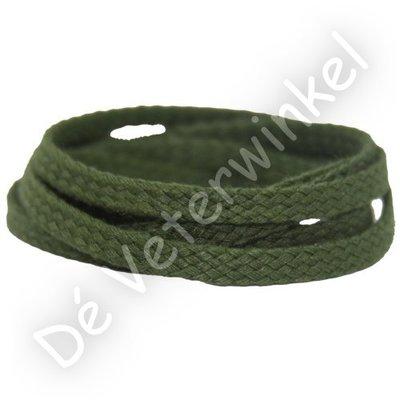 Plat GROF 5mm katoen Groen SPECIALE LENGTE - OP=OP