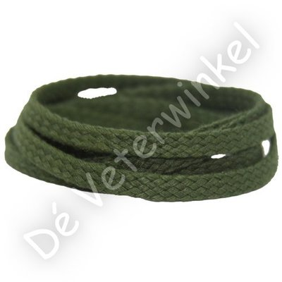 *Plat GROF 5mm katoen Groen SPECIALE LENGTE