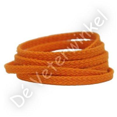 Plat GROF 5mm katoen Oranje SPECIALE LENGTE - OP=OP