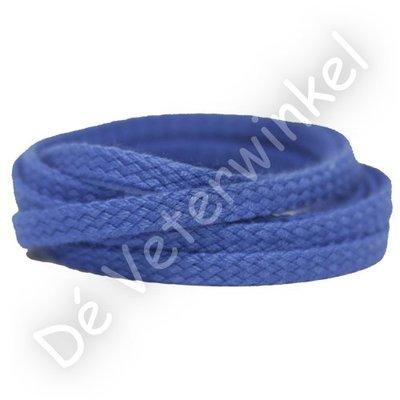 *Plat GROF 5mm katoen Kobaltblauw SPECIALE LENGTE