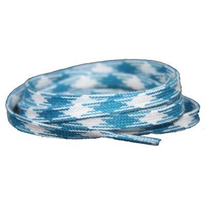 *Plat katoen 6mm Blauw-Ruit SPECIALE LENGTE