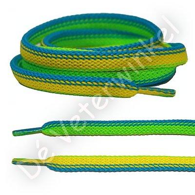 Fantasie Geel-Blauw-Groen SPECIALE LENGTE