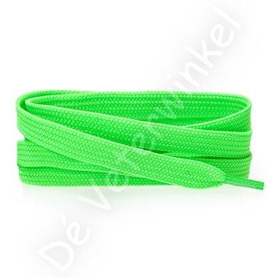 Plat 8mm polyester NeonGroen SPECIALE LENGTE