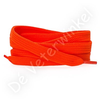 Flat 8mm polyester Orange Red SPECIAL LENGTH