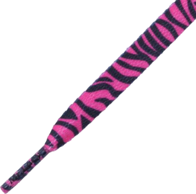 Mr.Lacy Printies Hot Pink/Black Zebra 130cm