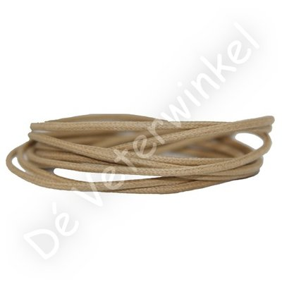 Rond 2mm wax Beige SPECIALE LENGTE