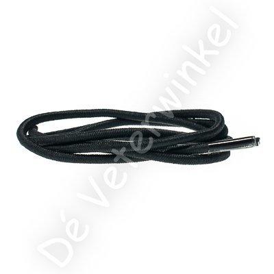 Rond 3mm ELASTIEK Zwart SPECIALE LENGTE