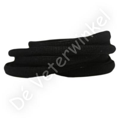 Ovaal sportveter 6mm Zwart SPECIALE LENGTE