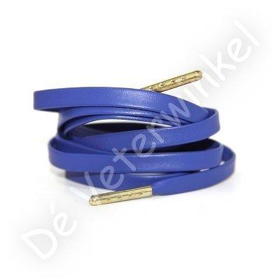 Luxe leren veters Koningsblauw