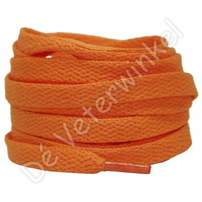 Nike veters plat 8mm Oranje SPECIALE LENGTE