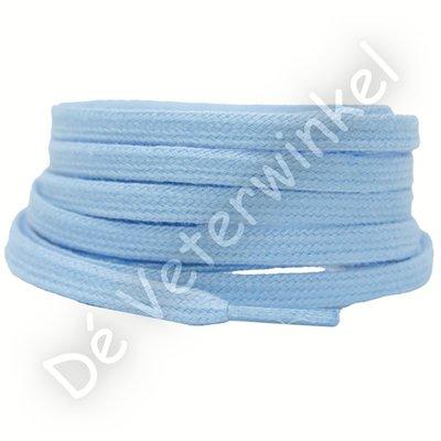 Plat katoen 6mm Lichtblauw SPECIALE LENGTE