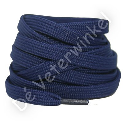 Plat 8mm polyester Jeansblauw SPECIALE LENGTE