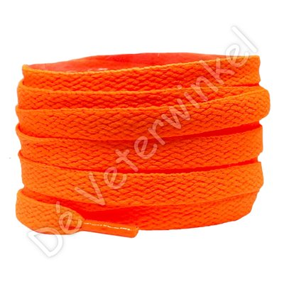 Nike veters plat 8mm NeonOranje SPECIALE LENGTE