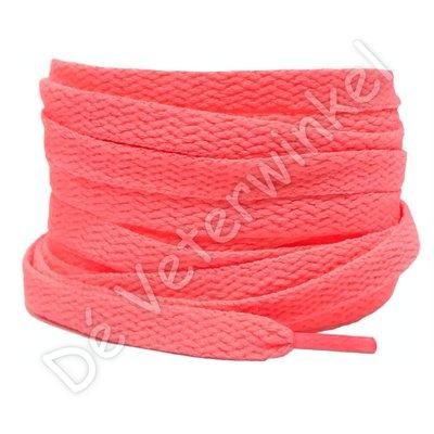 Nike veters plat 8mm Watermeloen Roze SPECIALE LENGTE