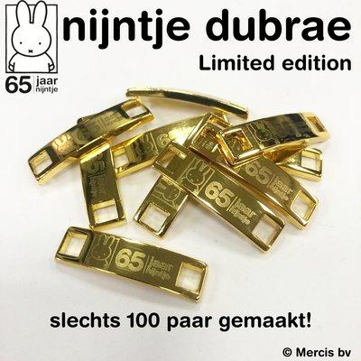 *LIMITED EDITION 65 jaar nijntje metalen veter tags (dubrae)