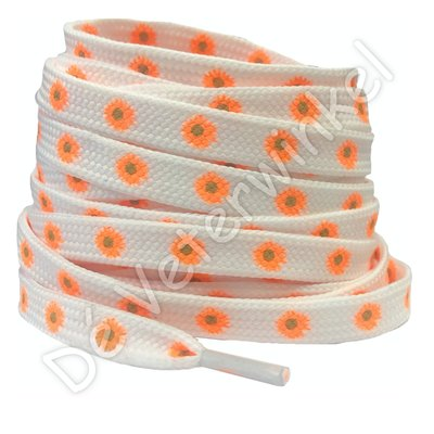 Flower Power 8mm Oranje SPECIALE LENGTE
