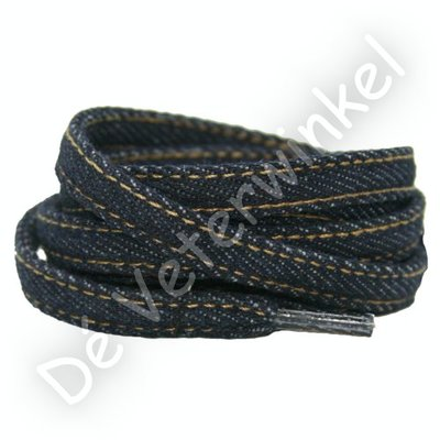 Jeans veters 9mm Donkerblauw SPECIALE LENGTE