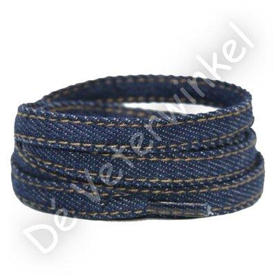 Jeans veters 9mm Blauw SPECIALE LENGTE