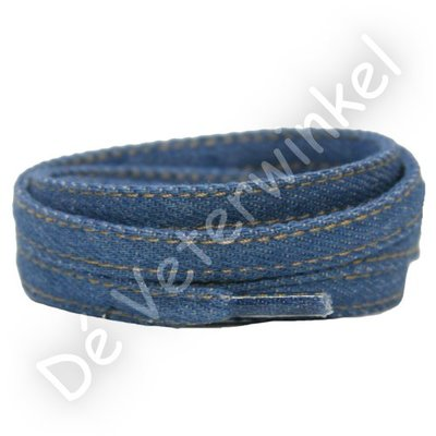 Jeans veters 9mm Lichtblauw SPECIALE LENGTE