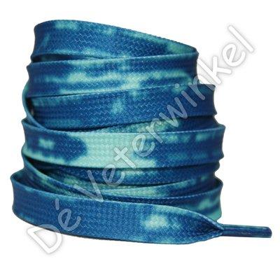 TIE DYE 8mm Blauw SPECIALE LENGTE