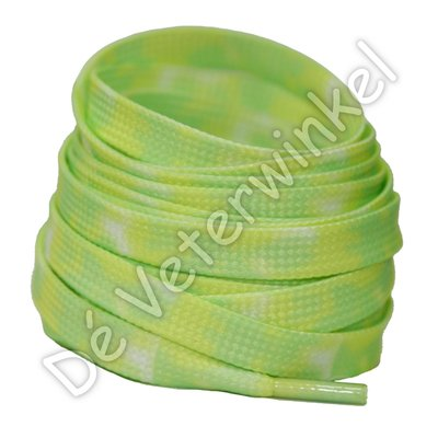 TIE DYE 8mm Lime Yellow SPECIALE LENGTE