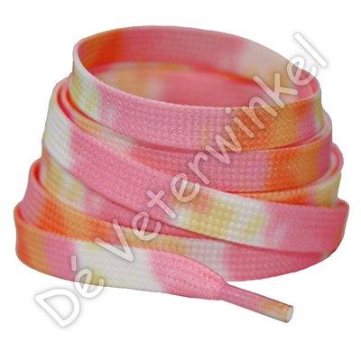 TIE DYE 8mm Oranje/Roze SPECIALE LENGTE