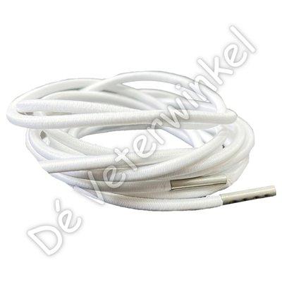 FILLING PIECES Rond elastiek 3mm Wit-/Zilver