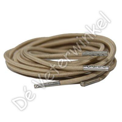 FILLING PIECES Rond elastiek 3mm Beige-/Zilver